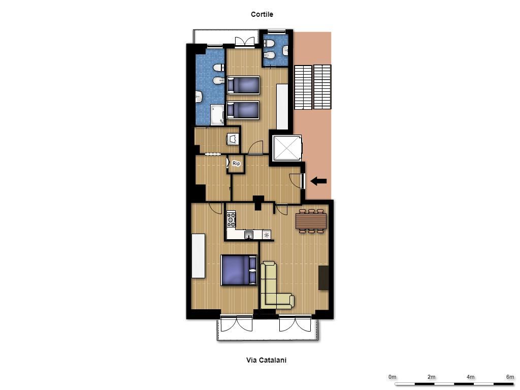 Affitto appartamento via Catalani - immagine 29